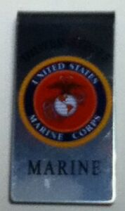 MARINES LOGO MONEY CLIP NEW