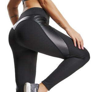 30d134ad44f2 Image is loading Womens-Workout-Spliced-Leggings-Sports-Yoga-Gym-Fitness-