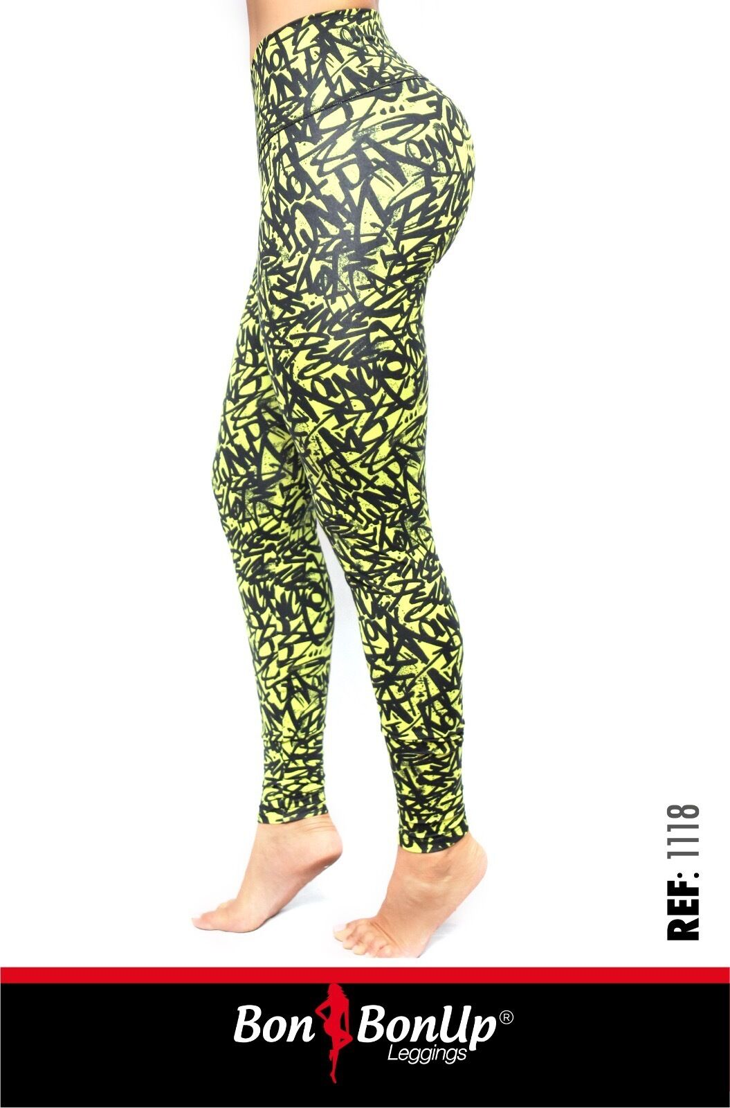 Bon Bon Up Compression Leggings with internal body shaper multycolor stamped1118