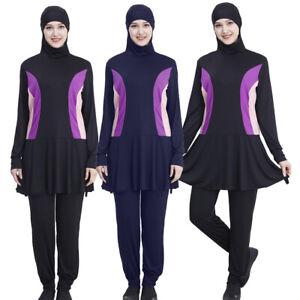 6057d146bd729 Image is loading Arab-Modest-Swimwear-Muslim-Women-Full-Cover-Swimsuit-