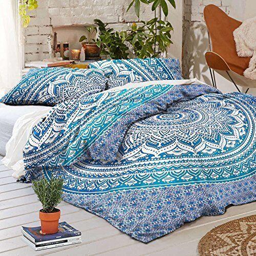 Indian Mandala Bedding Set Duvet Cover Ombre Comforter Covers Cotton King Size