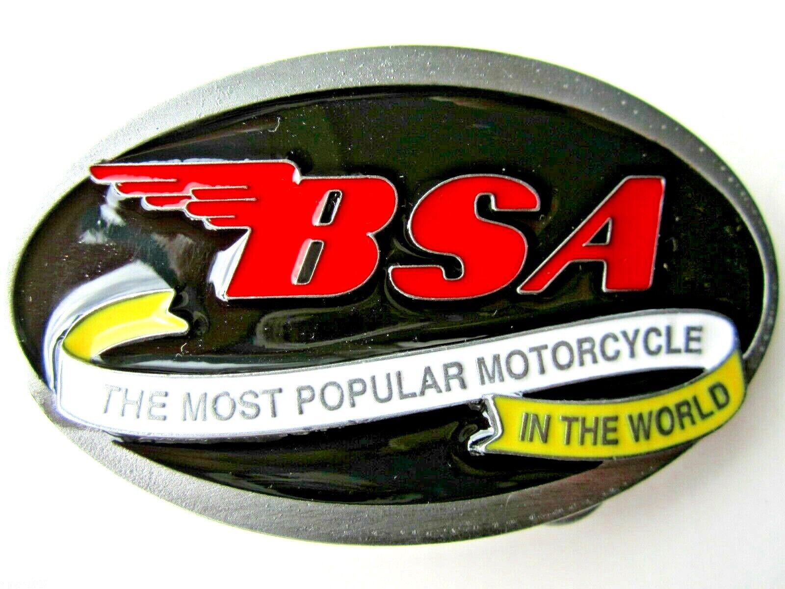 BSA motor cycle belt buckle golden flash 650 twin classic bike