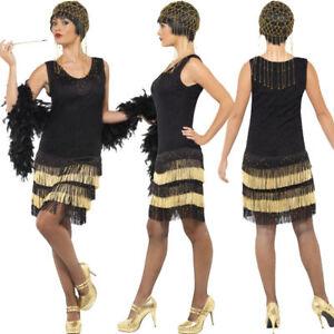 Image Is Loading 1920s Fringed Fler Las Fancy Dress Costume 20s