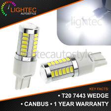 2X T20 W21W 7443 7440 Led 64-Smd 1206 Tail Stop Brake Light Bulb Lamp White UK