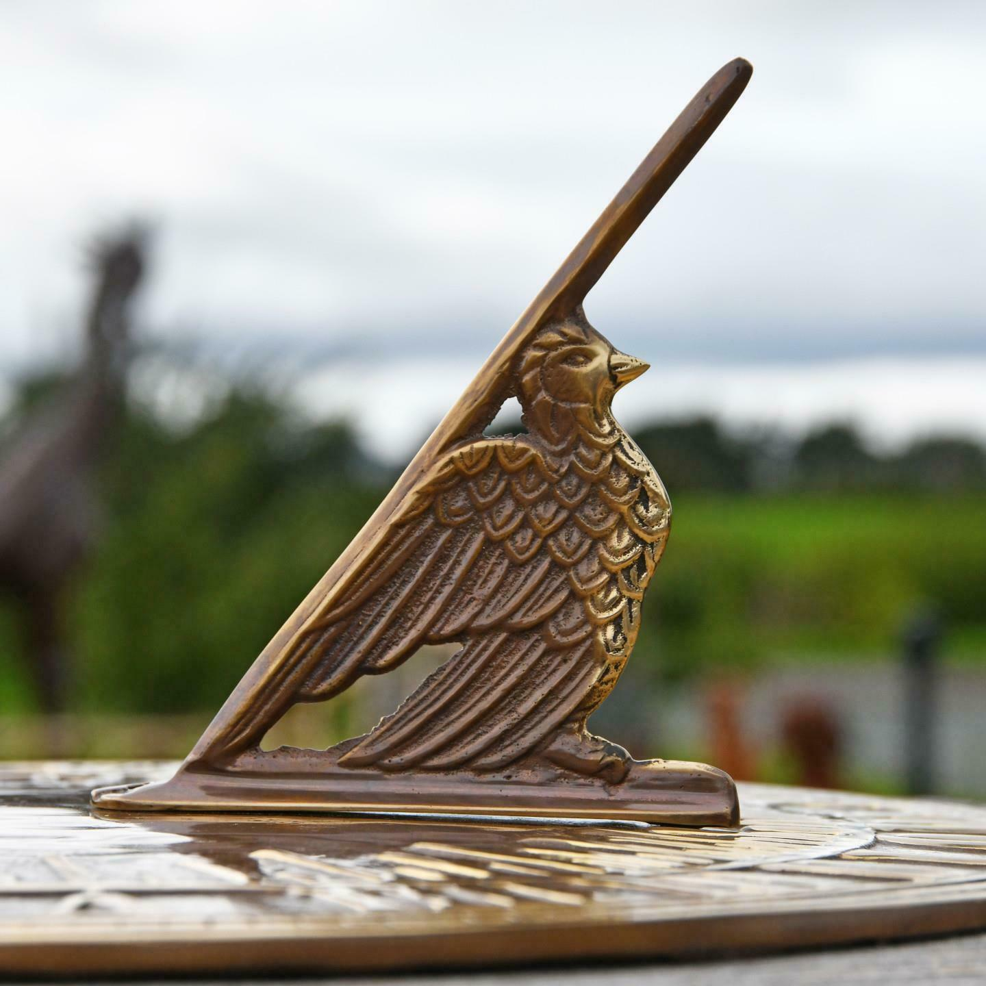 Antique Brass Old Father Time Sundial – 290mm