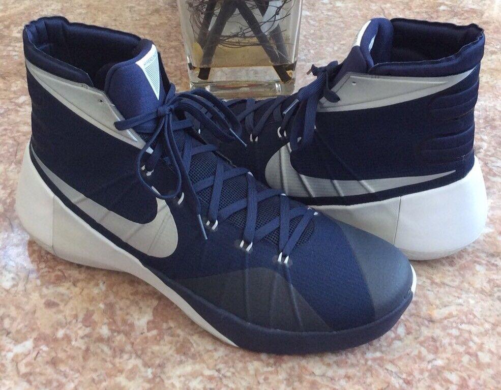 Nike hyperdunk 2018 TB Hombre Navy / Zapatos Plata / Blanco basketball Zapatos / sz17 c2c134