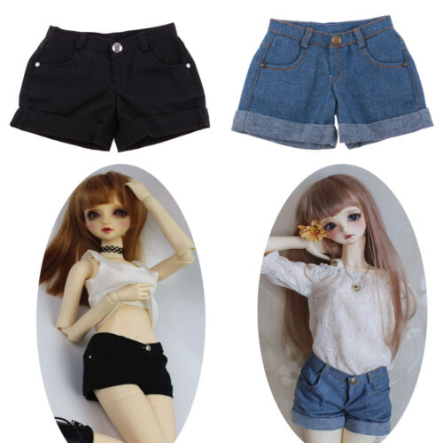 2pcs Cuffed Shorts Pants for DOD SD DD MSD 1//3 BJD Dolls Clothes Accessories