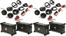 """2 Pairs Rockford Fosgate P1T-S 1"""" Car Tweeters With Crossovers"""