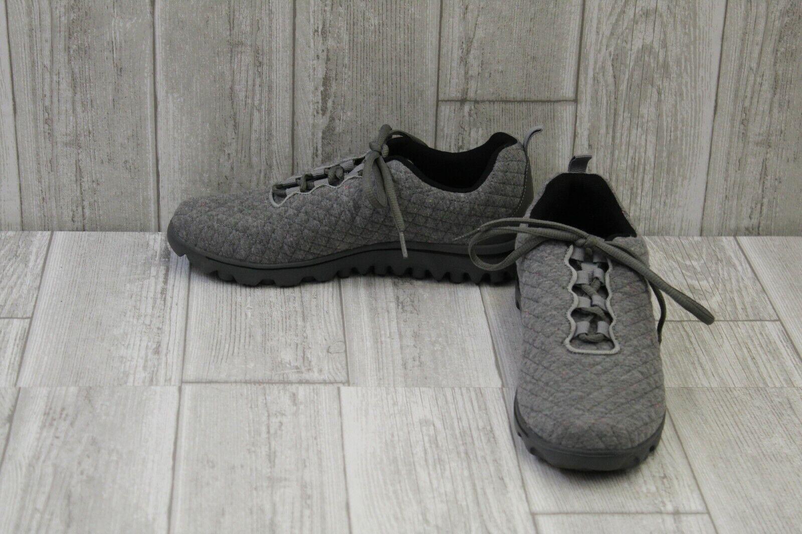 Propet TravelActiv Woven Sneaker - Women's Size 8.5M, Grey Quilt