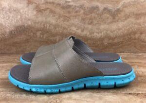 8ea9512bd8578 Cole Haan Vapor Gray Blue ZeroGrand Slide Sandal Men's | eBay