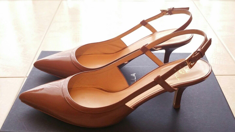 SEMILLA chaussures Sandali femmes Made in  in Pelle Vernice 38,5