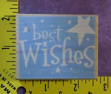 BEST WISHES with STARS happy birthday good luck wedding rubber stamp #457