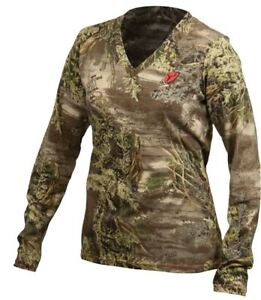 7042b99f809e5 NEW Womens ScentBlocker S3 RealTree MAX-1 Camo Long Sleeve Tee Shirt ...
