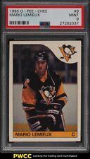 1985 O-Pee-Chee Hockey Mario Lemieux ROOKIE RC #9 PSA 9 MINT