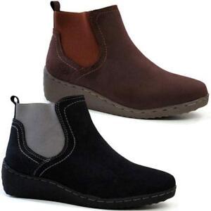 Ankle Chelsea Walking Womens Ladies Suede Desert Boots Faux Comfort f8pwq54