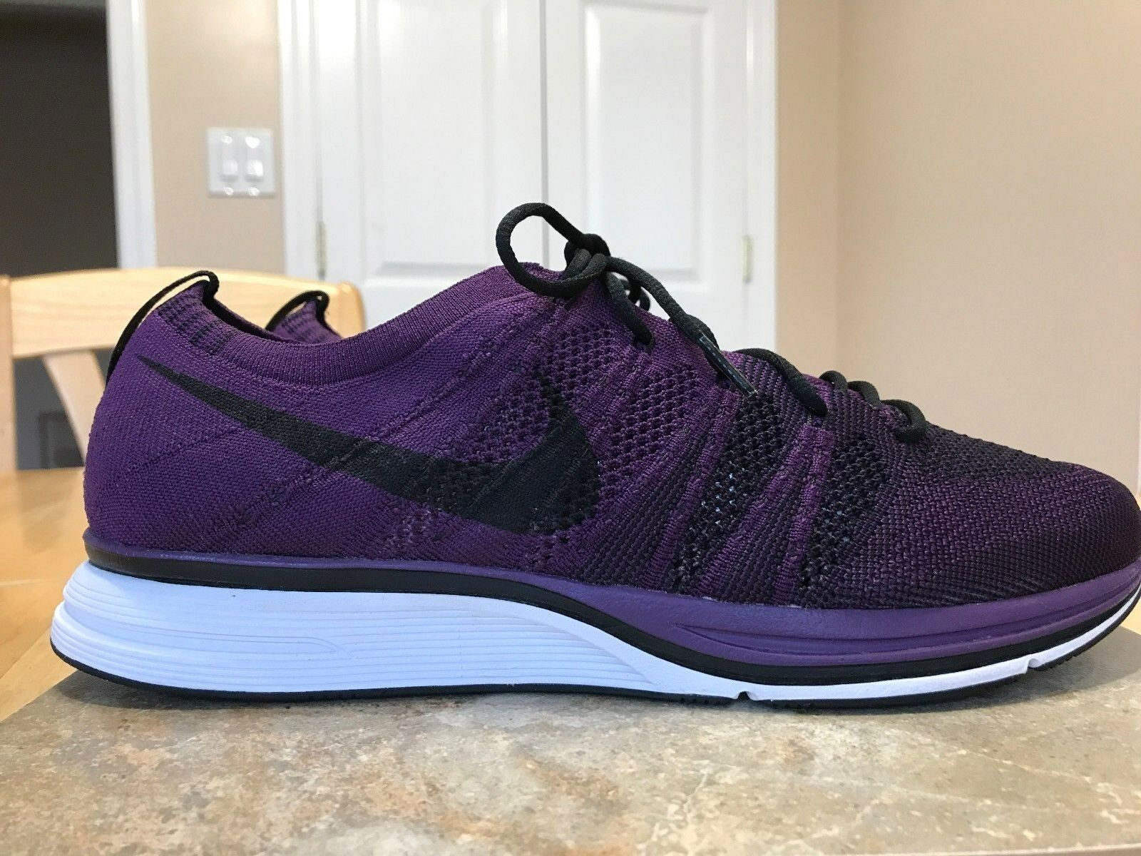 NIKE 2017 FLY KNIT TRAINER MEN'S SHOES AH8396 500 SIZE 10.5 NIGHT PURPLE