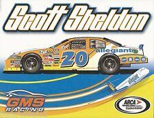 "SCOTT SHELDON ""ALLEGIANT GMS RACING"" #20 NON NASCAR ARCA SERIES POSTCARD"