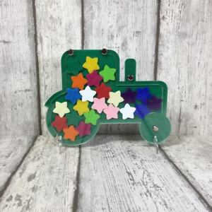 Details About Tractor Acrylic Reward Jar With 24 Star Tokens Tr Craft Blanks