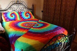 Tie Dye Bed Sheet Set Twin Full Queen King And Cal King