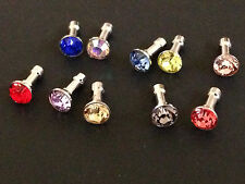 10 x Mix Color Metal Crystal Dust Plug For iphone & 3.5mm Earphone Mobile Phone