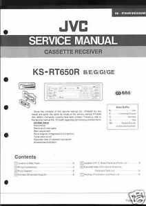 Tv, Video & Audio Hart Arbeitend Jvc Original Service Manual F Car Ks-rt650r Ks Rt 650