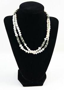 100% Vrai Vintage 925 Sterling Silver Multi Couches Perle Balle Verte Un Collier De Perles 47.2 G-afficher Le Titre D'origine