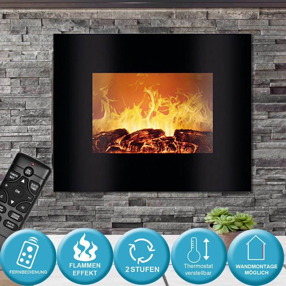 Affichage d'effet de flammes de salon électrique de mur à télécommande 1800 W