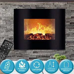Kamin-Wand-Montage-Flammen-5-Stufen-Effekt-Glas-Elektro-Heizung-FERNBEDIENUNG