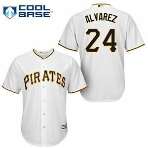 Pedro-Alvarez-Pittsburgh-Pirates-24-MLB-Men-039-s-Cool-Base-Home-Jersey-Authentic
