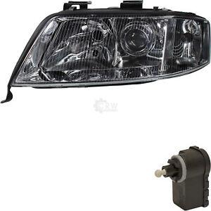 Halogen-Headlight-Left-for-Audi-A6-4B-C5-97-03-Incl-Motor