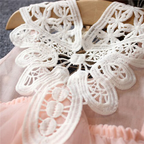 Toddler Baby Girls Princess Lace Tulle Tutu Dress Kid Pageant Party Wedding Gown