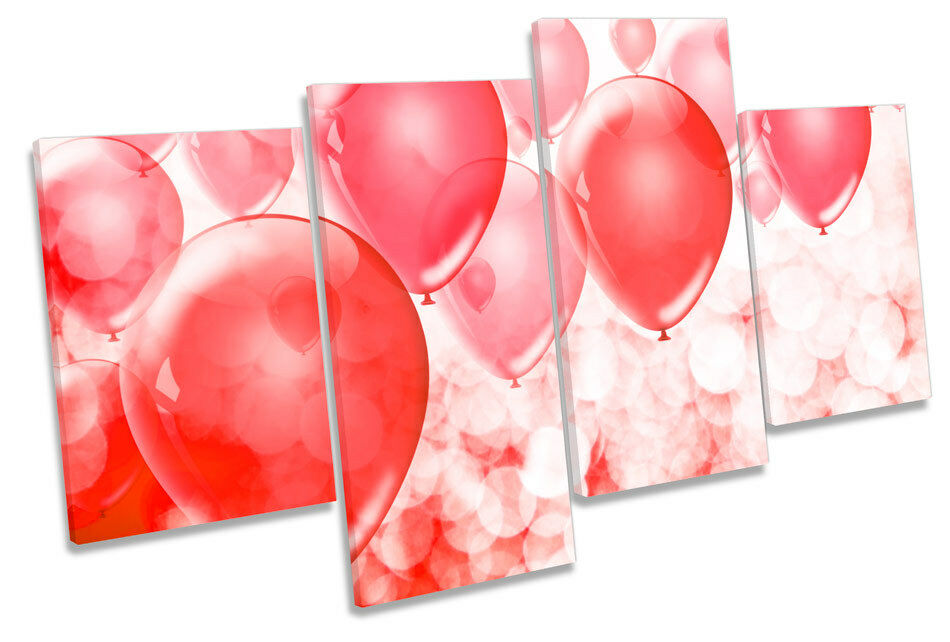 Balloons Modern MULTI CANVAS WALL ART Print Picture