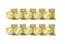 34 Sharkbite Style Push Fit Brass Drop Ear Elbow Pack Of 10 Connect Fitting