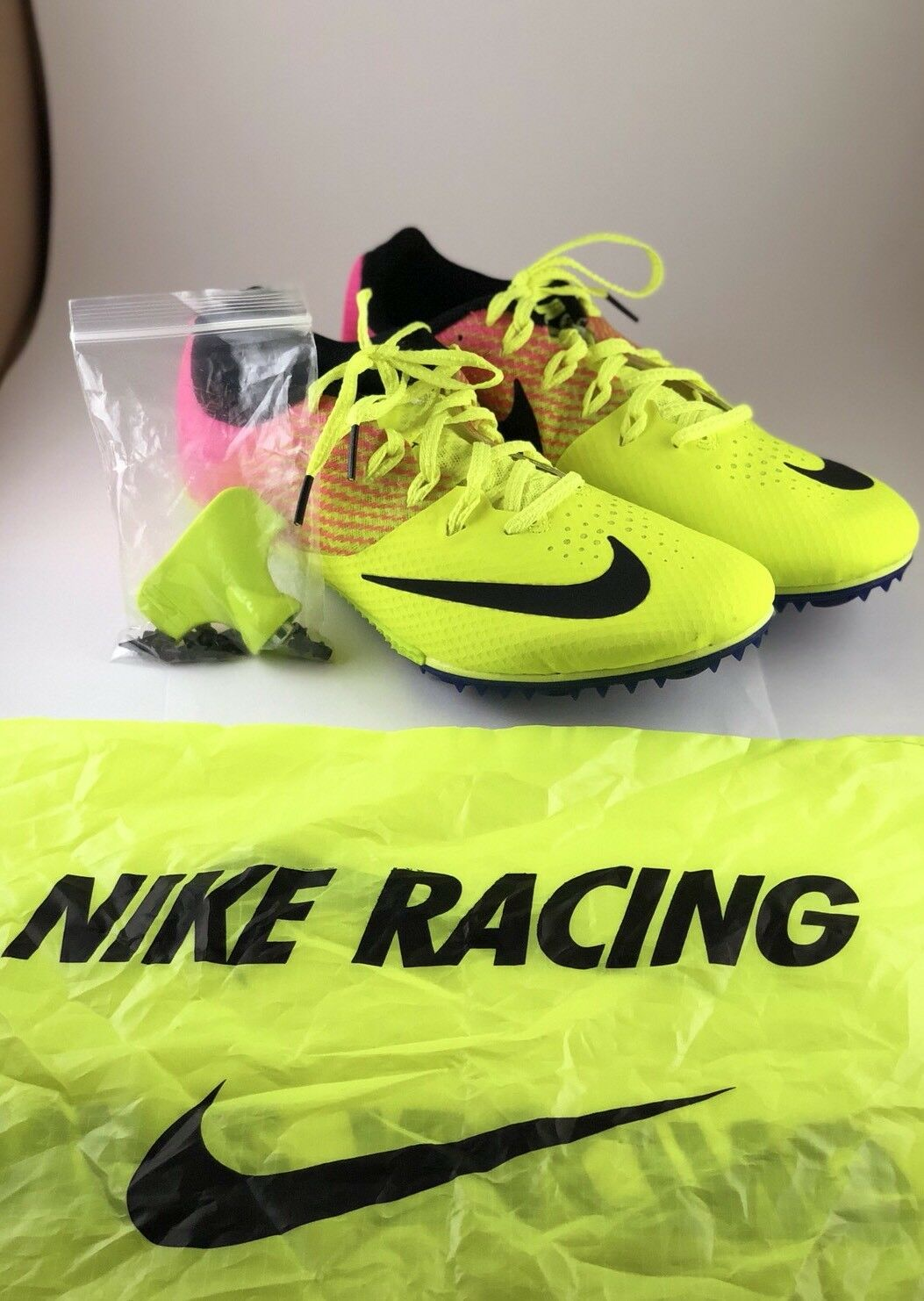 meet 3036f 760a3 Nike Zoom Rival S Track Track Track Running Spikes Volt Pink Men s (Size 11)