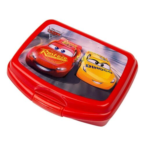 DISNEY PIXAR CARS KINDER JUNGEN BROTDOSE LUNCHBOX CA.16x12x5 CM SANDWICHBOX ROT