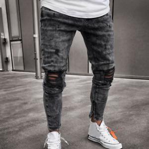 Jeans De Moda Pantalon Para Hombre Pantalones De Mezclilla Calcas Masculinas Men S Jeans Clothing Shoes Accessories