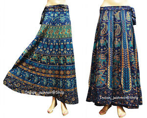 Set-of-2-Mandala-Skirt-Around-Repron-Floral-Printed-Summer-Wear-Cotton-Long-Wrap