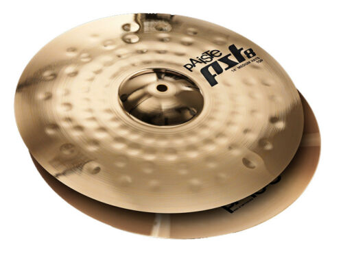 "Paiste 14/"" Pst 8 Reflector Medium Hi-hat Cymbals PST8MHH14"