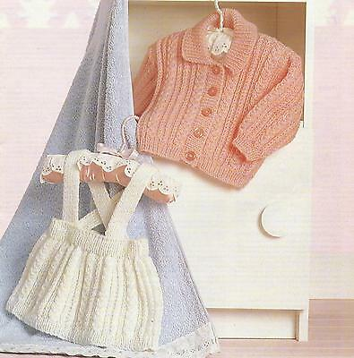"""Baby Jacket and Skirt Kniting Pattern DK 16-20""""  237"""