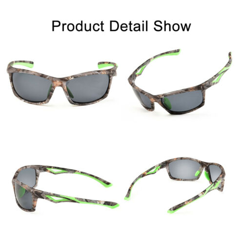 TR90 Polarized Sport Cycling Sunglasses Mirrored Mens Driving Fishing Goggles 3