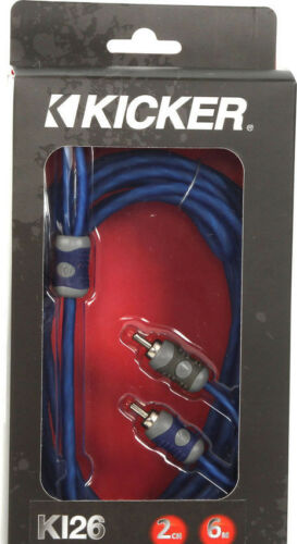 6m Blue Kicker K-Series 2-Channel RCA Interconnect Cable