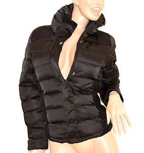 separation shoes c02ba 33027 Dettagli su Piumino nero donna giubbotto ricamato giubbino giaccone  imbottito jacket 80