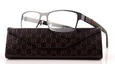 RARE GUCCI Matte Grey Stainless Steel Eye glasses Frame Glasses GG 2248 4VF BS
