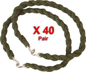 40-Paires-Pantalon-Torsions-Twist-Elastique-Jambe-Liens-Army-Cadet-Military-40-X