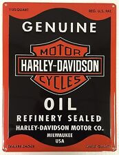 Ande Rooney HARLEY DAVIDSON OIL CAN RECTANGLE Motorcycle HD Garage Tin Sign New