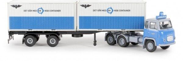 1 1 1 87 Brekina Scania LBS 76 Container-SZ NSB mit 2 x 20ft-Container 85186  | Um Eine Hohe Bewunderung Gewinnen Und Ist Weit Verbreitet Trusted In-und   949781