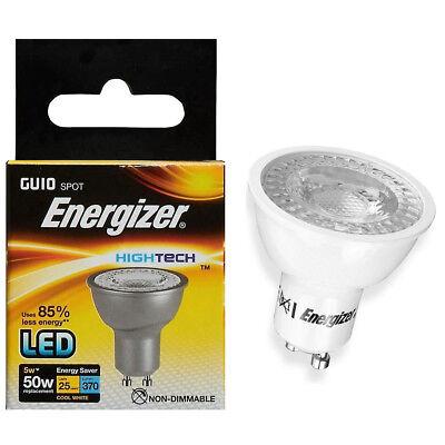 ENERGIZER DIMMABLE LED LIGHT GU10 5.7W=50W SPOTLIGHT LIGHT LAMP BULB WARM WHITE