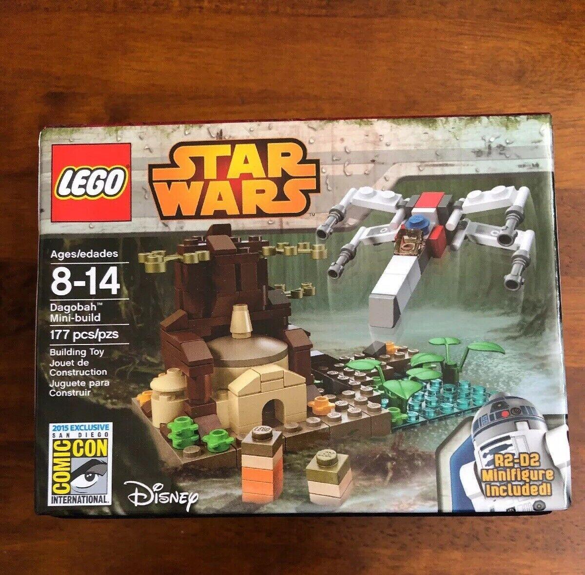 Lego 2015 SDCC Estrella Wars Dagobah exclusivo le 646 1000 Sellado   muy Raro