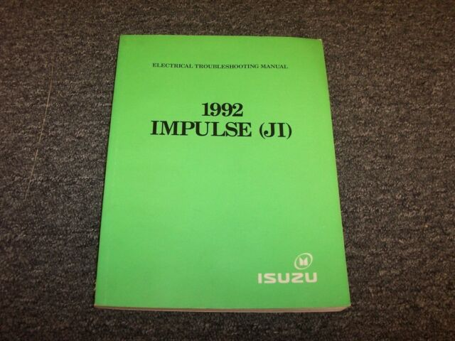 1992 Isuzu Impulse Coupe Electrical Wiring Diagrams Manual