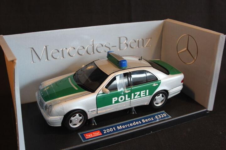 Sun Star Mercedes-Benz E320 2000 1 18 Polizei (JS)